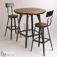 industrial type furniture. Bar Type Iron And Wood High Top Coffee Tables Chairs Industrial Furniture