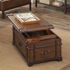 trunk table furniture. latitudes steamer trunk lift top coffee table i riverside furniture