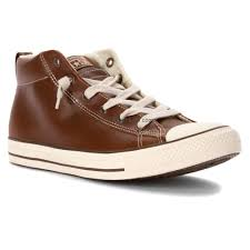 converse chuck taylor all star street mid top leather sneaker men s pinecone