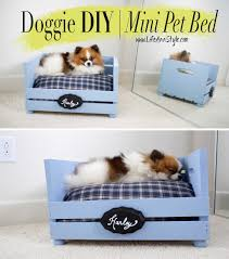 dog bed ideas. Simple Dog Craftstore Crate Turned Custom Pet Bed On Dog Ideas D