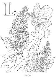 Coloring Page Alphabetic Lilac Fairy L Kleurplaat Alfabetisch