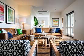fun living room chairs houzz family room. Example Of A 1960s Medium Tone Wood Floor Living Room Design In Perth With White Walls Fun Chairs Houzz Family