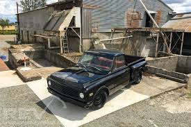 1969 Chevy C10 Short bed Stepside Black Murdered Out Blood Red ...