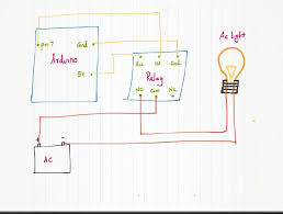 ac relay wiring wiring diagram controlling ac light using arduino relay module 7 stepspicture of circuit diagram
