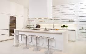 contemporary white kitchen tile