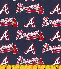 atlanta braves cotton fabric logo