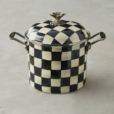 mackenzie childs courtly check stock pot