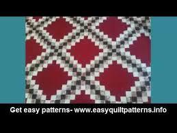 simple quilt blocks for beginners irish chain quilt double - YouTube & simple quilt blocks for beginners irish chain quilt double Adamdwight.com