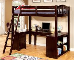 twin bed with desk underneath and single bed