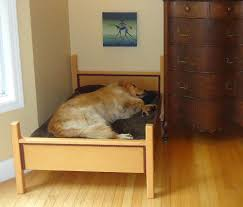 pet bed furniture. Dax\u0027s Deluxe Dog Bed Also By Design House BC Has Both A Headboard And Footboard So That It Looks Like Real Bed. Made From Douglas-fir With Purple Pet Furniture
