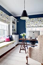 paint color for home office. Home Office In Benjamin Moore Van Deusen Blue HC-156. #BenjaminMooreVanDeusenBlueHC-156 Paint Color For