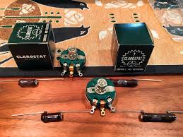 the a5 vott project commences resistors and capacitors and clarostat variable resistors ohmite brown devil resistors as used in mod 2 for r3