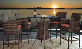 Outdoor Bar Height Table And Chairs Design  Modern Wall Sconces Outdoor Pub Style Patio Furniture