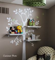 Small Picture Wall Decals Baby Nursery Decor Shelving Tree Decal with Birds