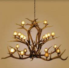 antler chandelier 18 light elk antler majestic