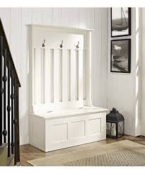 Entry Hall Bench With Coat Rack white ogden entryway hall treestorage bench For the Home 39