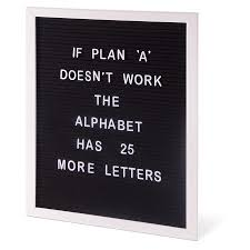 Is Gift Letter Board - A3 Black/ White (Min 8)