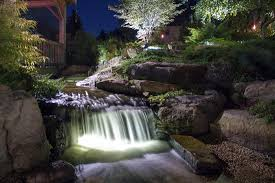 pond lighting ideas. exellent pond water garden u0026 led water feature lighting design service in rochester new  york ny throughout pond lighting ideas
