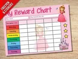Details About Princess Reward Chart Kids Childrens School Sticker Star Chart Stickers Pen
