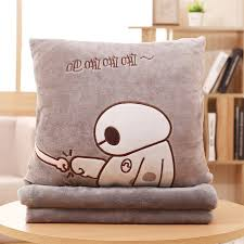 office nap. Pillow Quilt Dual-use Office Nap Coral Fleece Blanket Three-in-one Car Cushion Air Conditioning Was