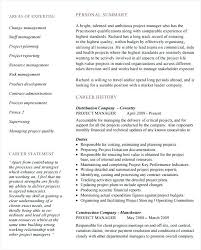 Sample Resume For Project Coordinator Construction Project Manager