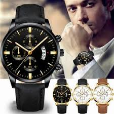 Latest Fashion Men Business Casual Calender Watch Quartz ... - Vova