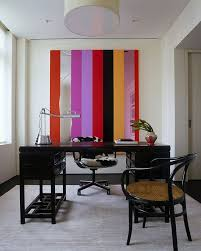 office interior wall colors gorgeous. Simple Colors Beautiful Working Space Concept With Assorted Color Stripes Wall Also  Gorgeous Glossy Black Table Rattan For Office Interior Wall Colors Gorgeous