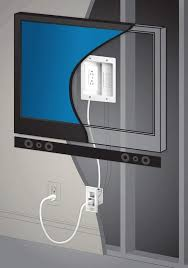 hide cables easily for a wall mounted