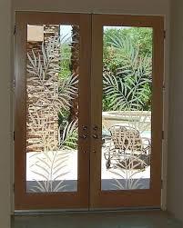 leaf style decorative glass doors