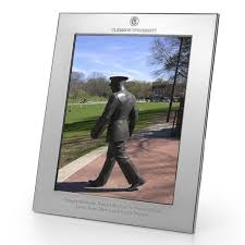 clemson polished pewter 8x10 picture frame