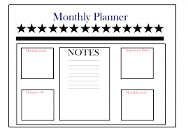 Free Online Monthly Planner Download Free Monthly Planner Templates Pdf Excel Word