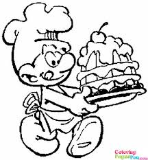 12 Smurfs Coloring Page Print Color Craft