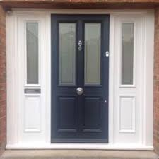victorian 4 panel front door farrow and ball all white railings todd