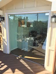 half inch glass exterior doors