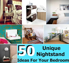 50 Amazing And Unique Nightstand Ideas For Your Bedroom | | Diycozyworld -  Home Improvement and Garden Tips