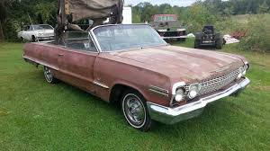 1963 Chevy Impala convertible V8 manual SS project 63 4 speed