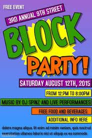 Block Party Flyer Block Party Flyer Template Free Fresh Block Party Template