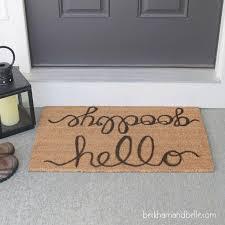 Floor Decorating Inspiring Exterior Home Accessories Ideas With - Exterior doormat