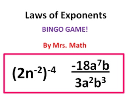 math laws laws of exponents bingo mrs math by mrs math tpt