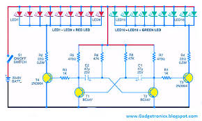 led christmas lights circuit using transistor as astable led christmas lights circuit using transistor as astable multivibrator mode of operation christmas star lighting