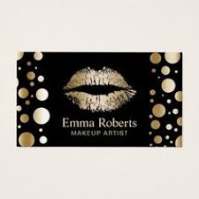 makeup artist gold lips modern golden dots salon business card salon business cards makeup artist