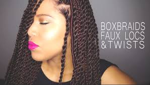 Twist Braids Hair Style how to box braids faux locs & twists on natural hair samantha 4741 by wearticles.com