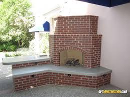 outdoor fireplace with brick veneer sacramento california