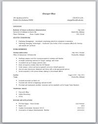 Sample Resume No Work Experience College Studen Resume For College