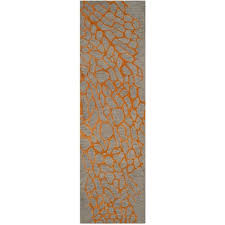 gorgeous 2 x 8 runner rugs safavieh handmade blossom abstract grey orange wool runner rug