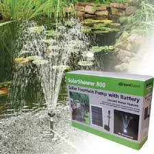 Solar Light Up Water Feature Amazon Com Solar Fountain Pump 210gph W Battery Back Up