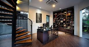 modern style office. Creative Home Office Combines Modern Aesthetics With Asian Style [Design: The Interior Place]