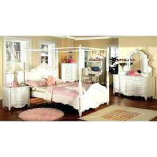 Twin Size Canopy Bed Canopy Bed Full Size New Pearl White Wood Kids ...
