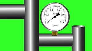 gas manometer. gas manometer working. green screen background. 4k animation. - 4k stock video clip