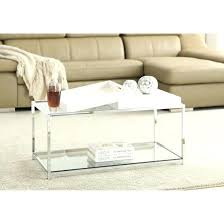 convenience concepts coffee table convenience concepts palm beach rectangle white metal and glass coffee table convenience